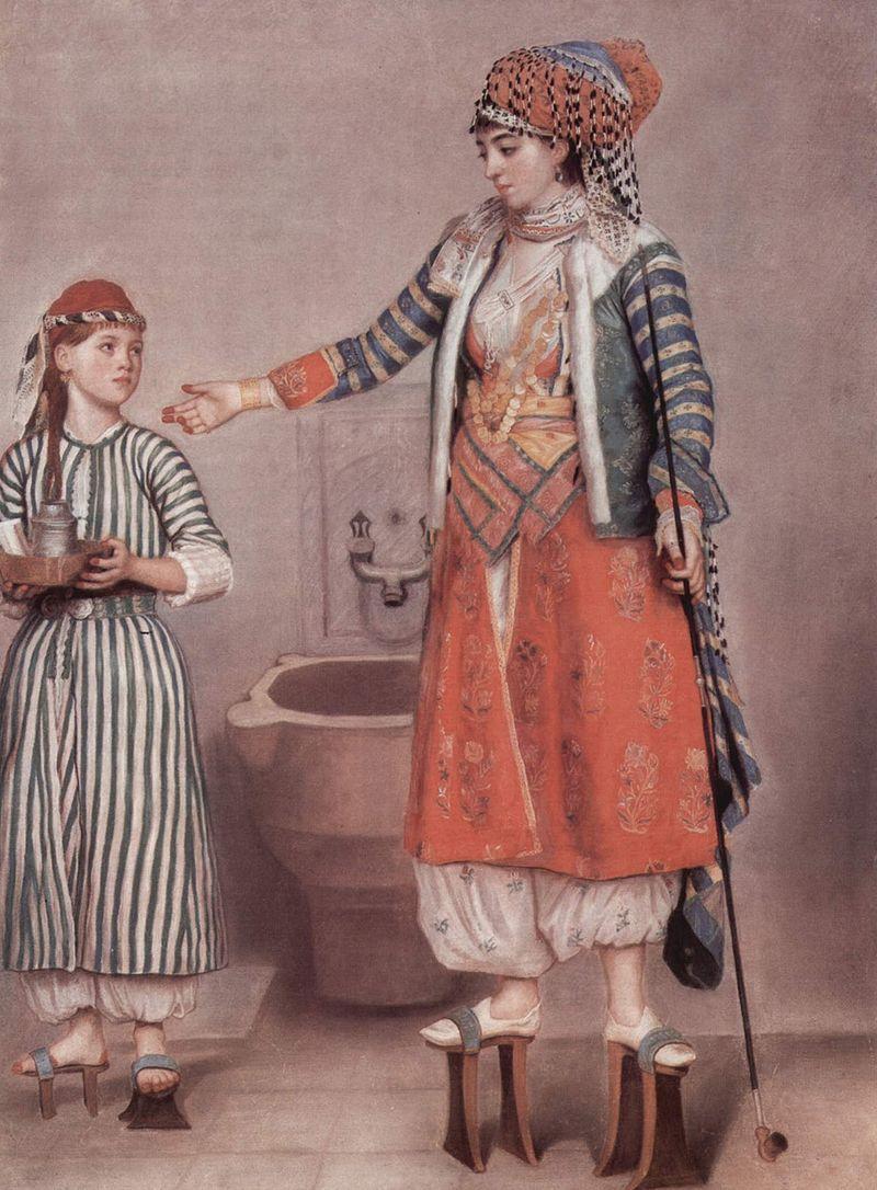 18世紀のトルコの女性 / Femme turque avec servante