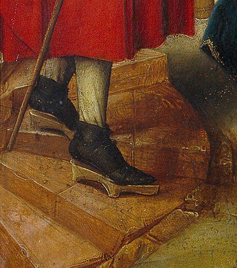 16世紀の絵画より。絵画に限った場合、屋内での使用例の方が多かったりする。中期型。/ Adoration of the Magi