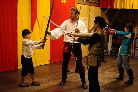 ドイツ剣術教室の様子(多分)