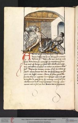 Antonius von Pforr: Buch der Beispiele ; Passionsgebet (Schwaben [Author was in service to Württemburg], um 1475/1482), Fol 7v