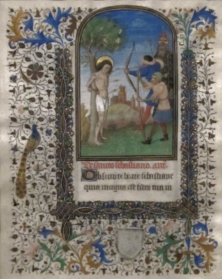 The Martyrdom of Saint Sebastian,  Book of Hours, c. 1455