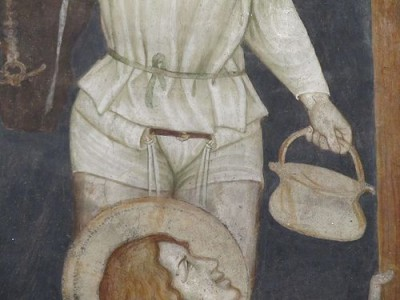 Oratorio di Santo Stefano at Lentate sul Seveso (MB, Lombardia, Italy); Crucifixion (detail) Master of Lentate, 1369-1375 c.