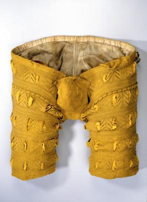 Um 1552-1555. Seidenstricker unbekannt. Schneiderarbeit vermutlich sächsisch.
