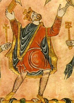 miniature from the New Minster Charter, 966