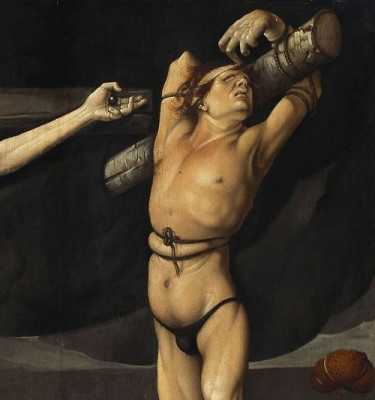 Hans Baldung, Detail of The Crucifixion of Christ (1512)