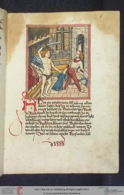 Cod. Pal. germ. 85: Antonius von Pforr: Buch der Beispiele (Schwaben, um 1480/1490), Fol 6r