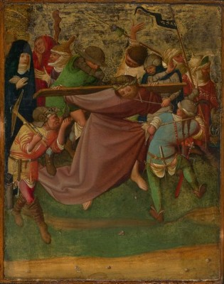 Christ Carrying the Cross, 1420-1425, Master of the Worcester, Bavaria