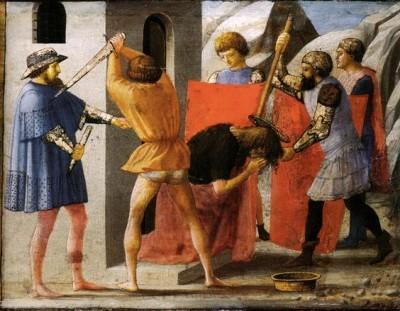 Masaccio, Martirio di san Giovanni Battista