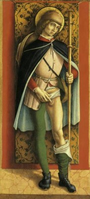 St. Roch is by Carlo Crivelli (c. 1435–1493), a northern Italian artist.