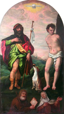 Cesare Vecellio, Saint Sebastian and Saint Roch, 16th century