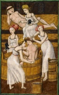 Knihovna Národního muzea v Praze, Česká republika, (Monks in the bath) Jenský kodex Antithesis Christi et Antichristi, 1490-1510