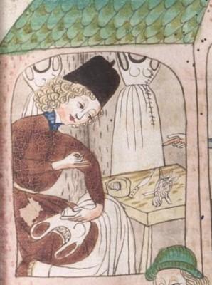 Schachzabelbuch--Cod.poet.et.phil.fol.2. Konrad van Ammenhausen, Hagenau, 1467, 203r.