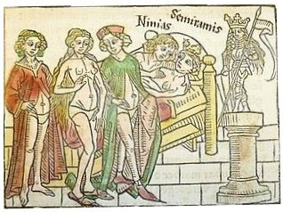 Woodcut from 1474, Boccaccio's Famous Women. 1474.