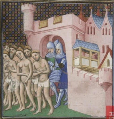 BL Cotton MS Nero E II Grandes Chroniques de France, fol 20v
