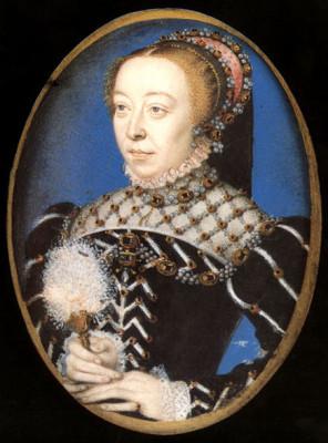 François Clouet, Portrait of Catherine de' Medici, circa 1555
