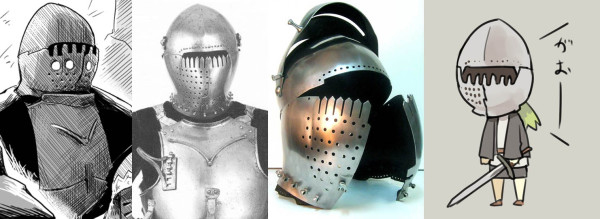 from Churburg armory / from http://sl-armours.com/en/gallery-of-medieval-arms-and-armour/helmets/49-milanese-armet-xv-century.html