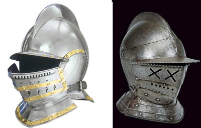from http://www.wholesalearmoury.com/burgonet-helmet.html / from Czerny's International Auction House