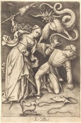 Israhel van Meckenem, The Angry Wife, c. 1495/1503